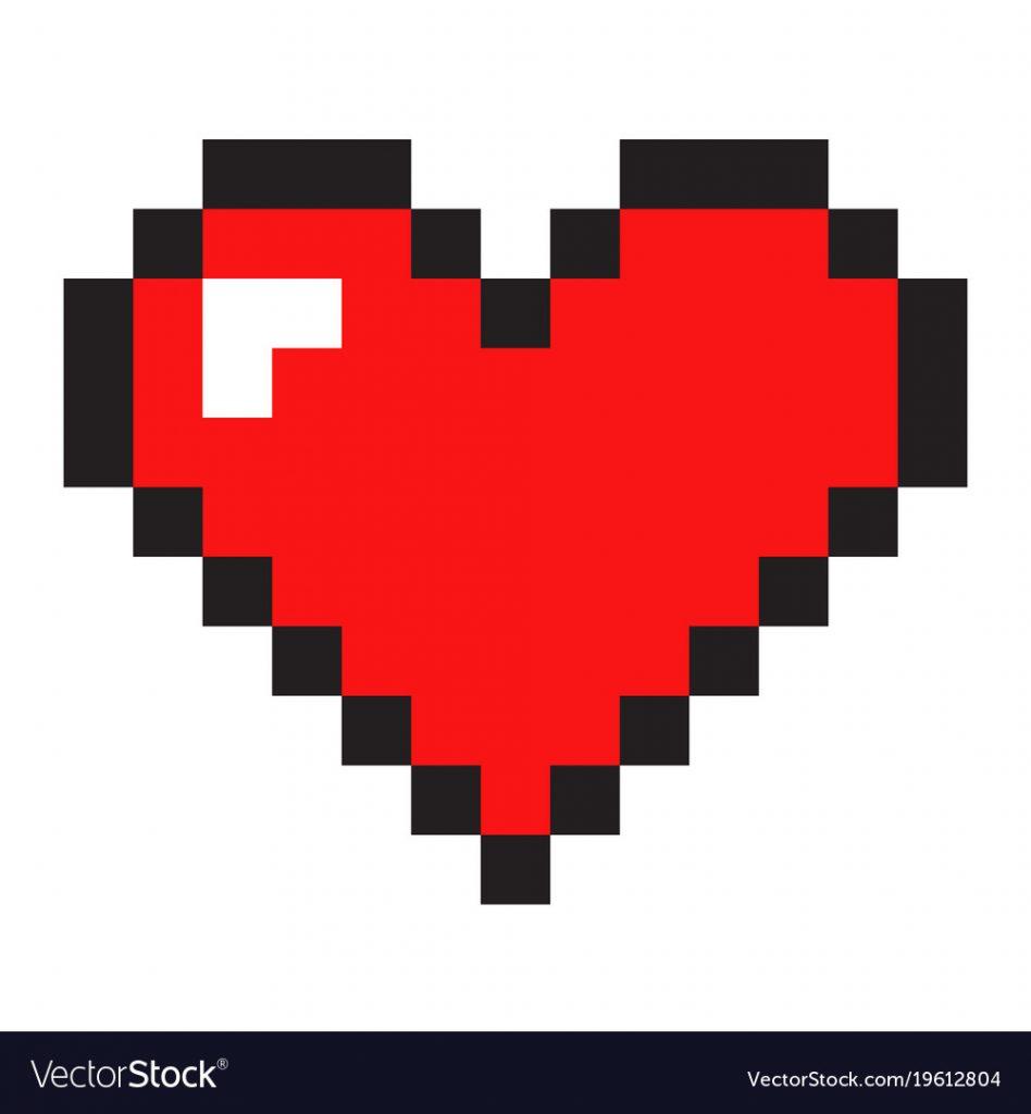 Heart pixelart
